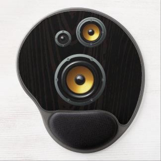 Fashionable Retro Wood Grain Speaker Trio Gel Mouse Pads