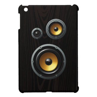 Fashionable Retro Wood Grain Speaker Trio iPad Mini Case