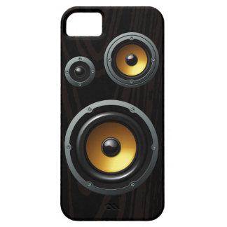 Fashionable Retro Wood Grain Speaker Trio iPhone 5 Case