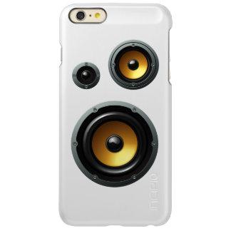 Fashionable Retro Wood Grain Speaker Trio Incipio Feather® Shine iPhone 6 Plus Case