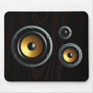 Fashionable Retro Wood Grain Speaker Trio Mousepads