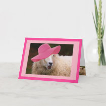 Fashionable Sheep Mother's Day Card