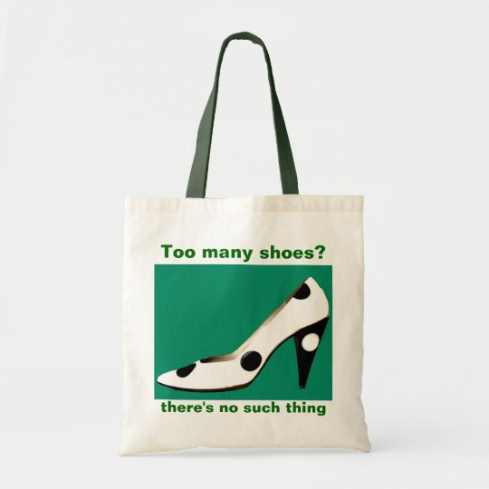 Fashionable Shoe Fanatic green Tote Bag