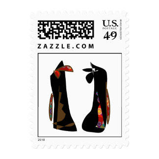 Fashionable shoes postage stamps