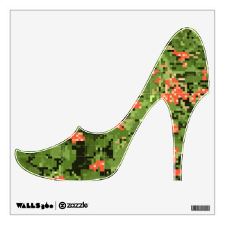 Fashionable shoes with a picture of a viburnum wall decal