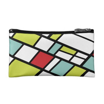 Fashionable Split Complementary Modern Abstract Makeup Bag