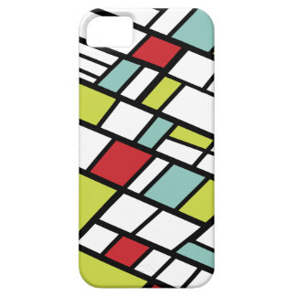 Fashionable split complementary modern abstract iPhone 5 case