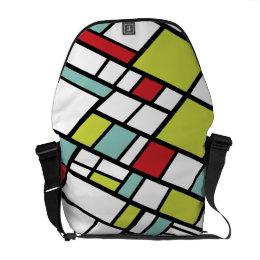 Fashionable Split Complementary Modern Abstract Messenger Bag