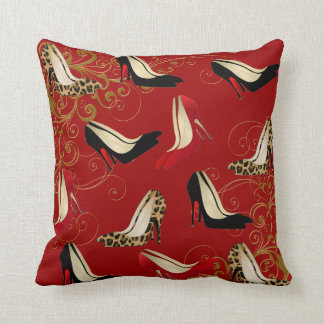 Fashionable Stiletto Heels Decorator Throw Pillow