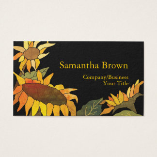 Fashionable Sunflowers Professional Business Cards