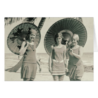 Fashionable Swimwear 1915 Card