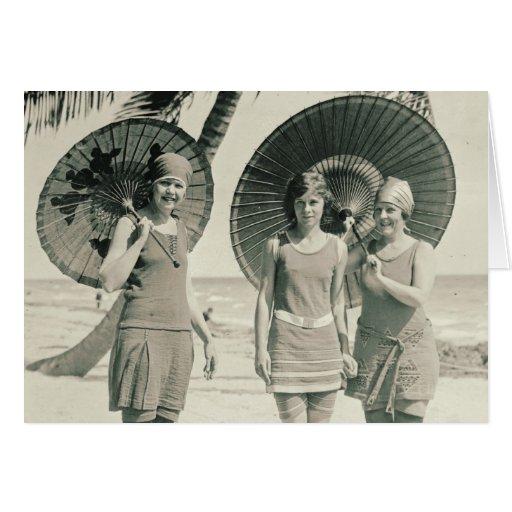 Fashionable Swimwear 1915 Card