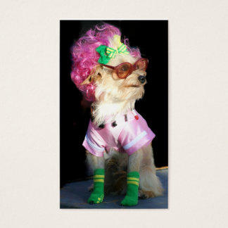 Fashionable Toy Dog Business Cards