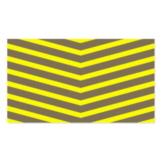 Fashionable Trendy Long Zig Zag Yellow Stripes Business Cards