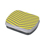 Fashionable Trendy Long Zig Zag Yellow Stripes Jelly Belly Tins