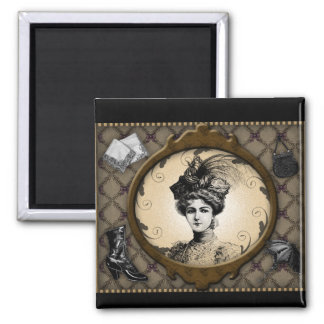 Fashionable Victorian Lady Magnet
