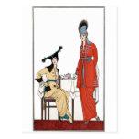 Fashionable Vintage Afternoon Tea Postcard