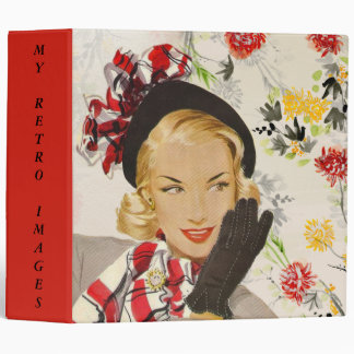 Fashionable Vintage/Retro Woman Photo Album/ Binder