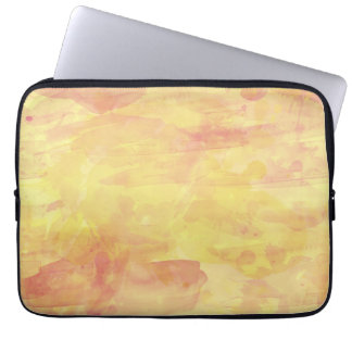 Fashionable Watercolor Paint Background, Yellow Computer Sleeve