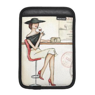 Fashionable Woman Drinking Wine Sleeve For iPad Mini