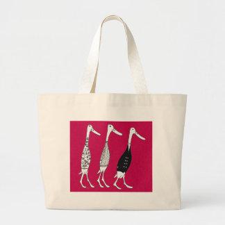Fashionably Dressed ducks Jumbo Tote Bag