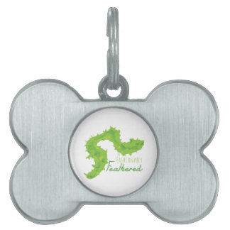 Fashionably Feathered Pet ID Tag