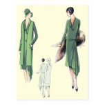 Fashionably green post cards