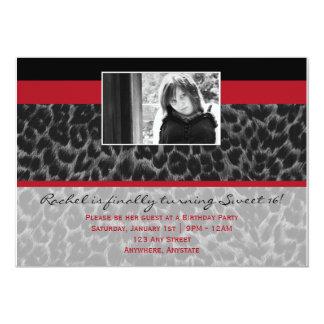 Fashionella in Cheetah Invitation