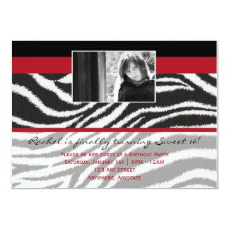 Fashionella in Zebra Invitation