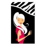 Fashionesta Fashion Vector Shop Girl Business Card