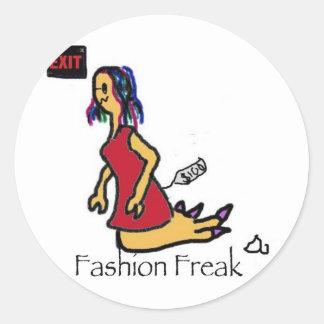 FashionFreak Classic Round Sticker