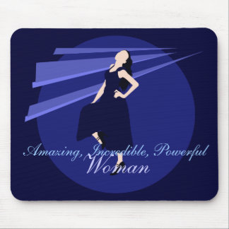 Fashiongirl in Blue Mouse Pad