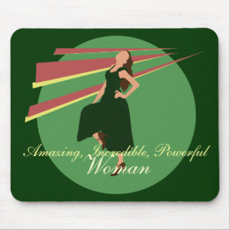 Fashiongirl in Green Mouse Pad