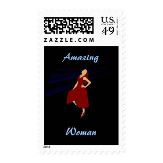 Fashiongirl in Red Postage Stamp