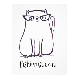 fashionista cat letterhead