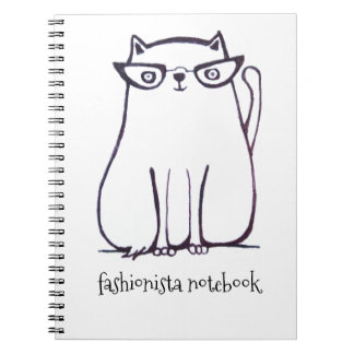 fashionista cat notebook