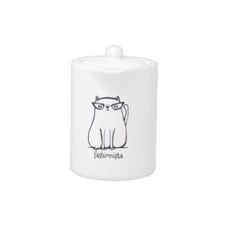 fashionista cat teapot