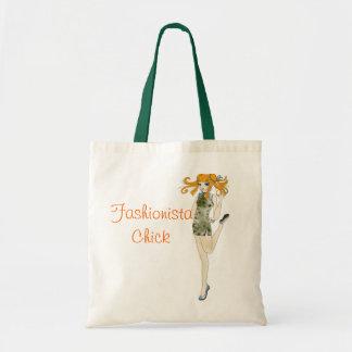 Fashionista Chick Tote Bag