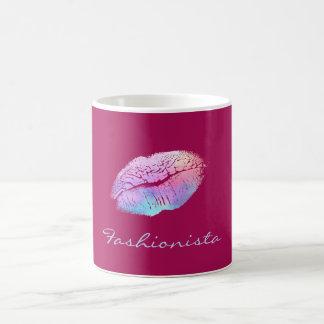 Fashionista Cotton Candy Color Lips Coffee Mug