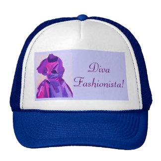Fashionista de la diva en azul gorra