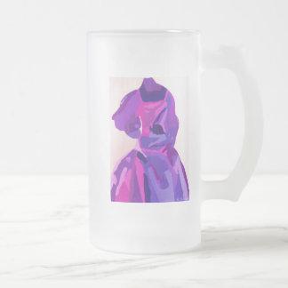 Fashionista de la diva en azul taza