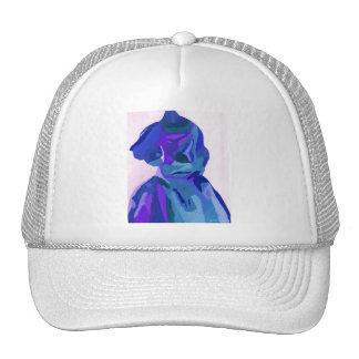 Fashionista de la diva en el azul I Gorros Bordados