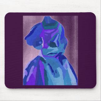Fashionista de la diva en el azul I Mouse Pads