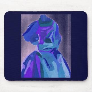 Fashionista de la diva en el azul I Tapetes De Ratón
