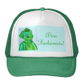 Fashionista de la diva en verano gorras de camionero