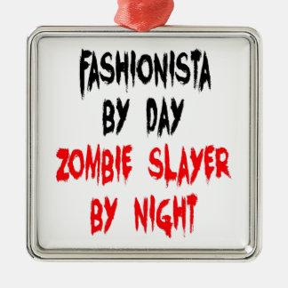 Fashionista del asesino del zombi ornamento de navidad