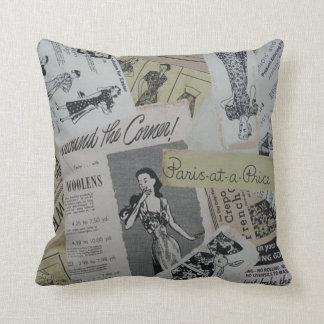 Fashionista del vintage almohada