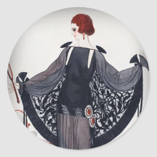 Fashionista Diva Roaring Twenties Classic Round Sticker