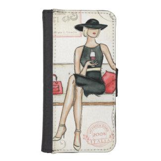 Fashionista Drinking Wine iPhone SE/5/5s Wallet Case