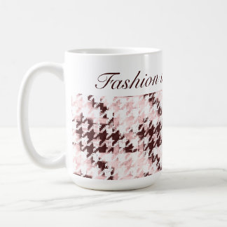 fashionista elegant houndstooth mug